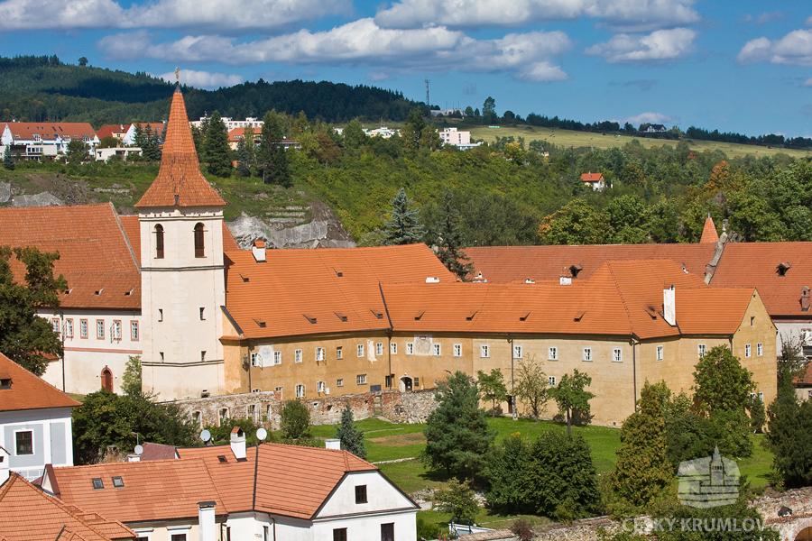 Conjunto arquitetônico barroco que integra um monásterio em Cesky Krumlov, cidade medieval da Rep. Tcheca
