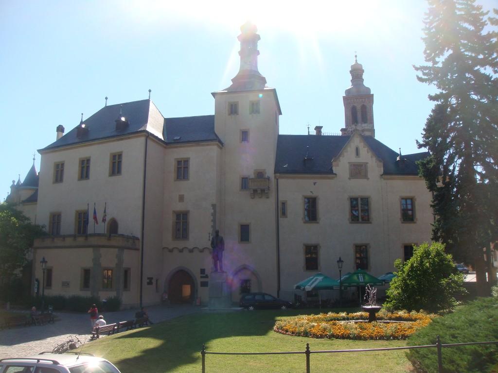 Prédio da época da corte italiana na cidade de Kutná Hora