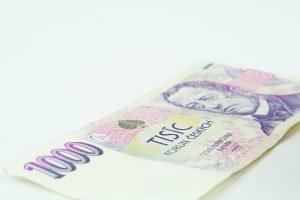 Coroa Checa, imagem de 1000 Coroas, dinheiro da República Tcheca