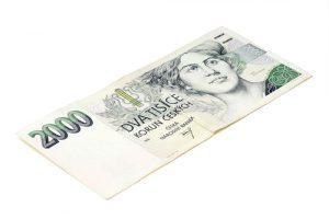 Coroa Checa, imagem de 2000 Coroas, dinheiro da República Tcheca