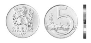 Moeda de 5 Coroa Tcheca
