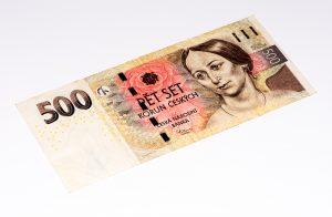 Coroa Checa, imagem de 500 Coroas, dinheiro da República Tcheca