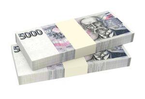 Coroa Checa, imagem de 5000 Coroas, dinheiro da República Tcheca