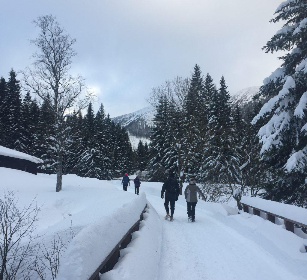 Vila totalmente coberta pela neve nas montanhas da República Tcheca